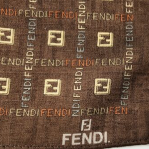 Authentic FENDI Vintage Cotton Scarf Face Mask exclusively at VintageLuxeUp.com