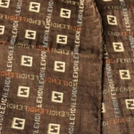 Load image into Gallery viewer, Authentic FENDI Vintage Cotton Scarf Face Mask exclusively at VintageLuxeUp.com
