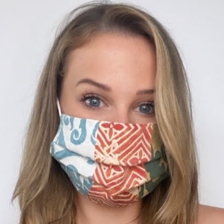 Authentic FORTUNY Divertimento Due Printed Cotton Face Mask exclusively at VintageLuxeUp.com