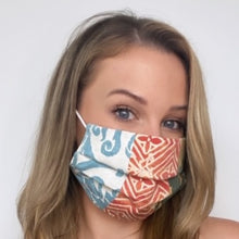Load image into Gallery viewer, Authentic FORTUNY Divertimento Due Printed Cotton Face Mask exclusively at VintageLuxeUp.com