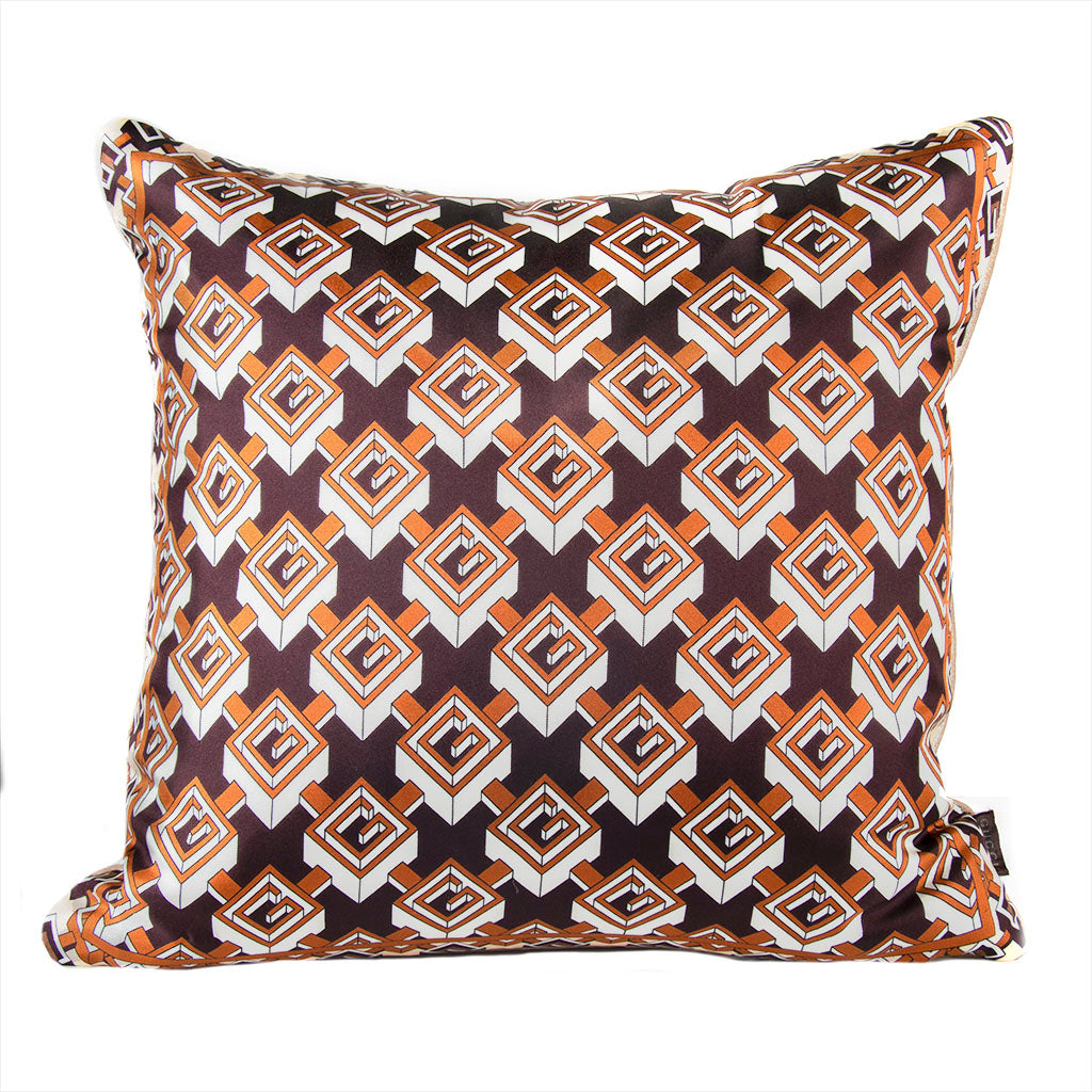 "Authentic GUCCI Vintage Isometric G Logo Pillow Cover 21"" exclusively at VintageLuxeUp.com"