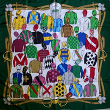 Load image into Gallery viewer, Authentic GUCCI Vintage Royal Ascot Silk Scarf Face Mask exclusively at VintageLuxeUp.com