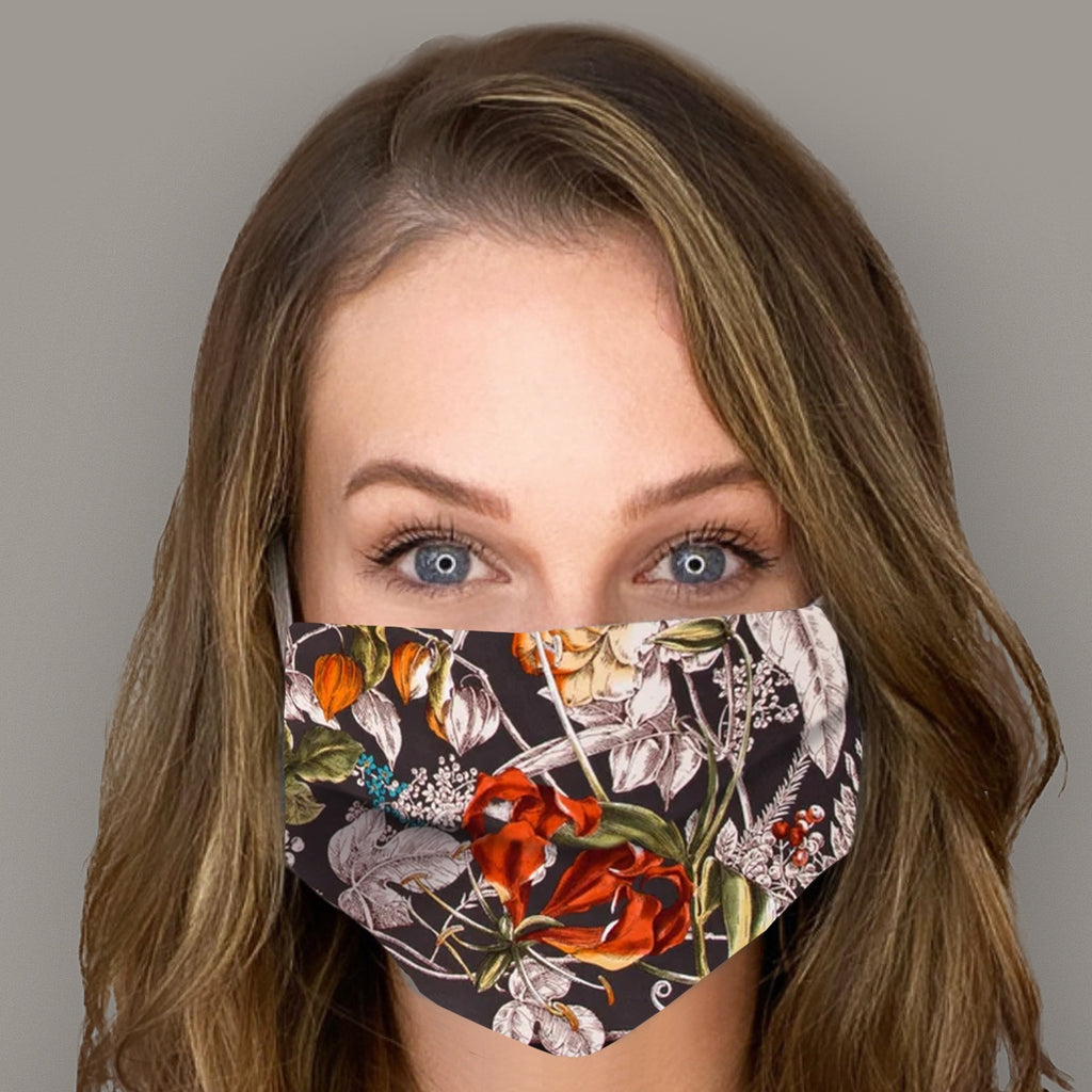 Authentic GUCCI Vintage Wonder Gardenia Silk Scarf Face Mask Exclusively at VintageLuxeUp.com