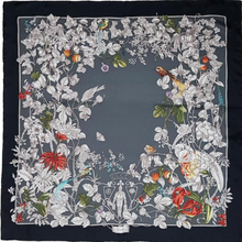 Load image into Gallery viewer, Authentic GUCCI Vintage Wonder Gardenia Silk Scarf Face Mask Exclusively at VintageLuxeUp.com