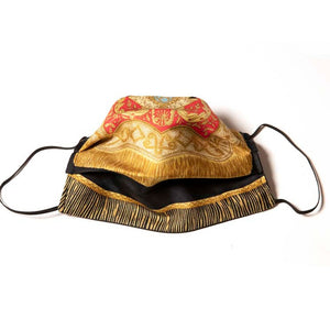Authentic HERMES Vintage Poste et Cavalerie Silk Scarf Face Mask exclusively at VintageLuxeUp.com