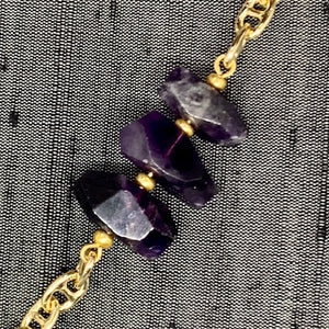 Healing Links™ Amethyst Mask Chain exclusively at VintageLuxeUp.com