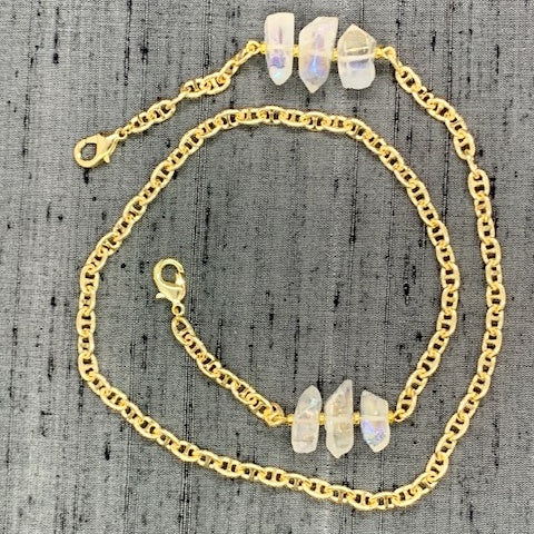 Healing Links™ Clear Quartz Mask Chain exclusively at VintageLuxeUp.com