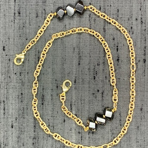 Healing Links™ Hematite Mask Chain exclusively at VintageLuxeUp.com
