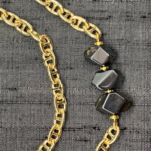 Load image into Gallery viewer, Healing Links™ Hematite Mask Chain exclusively at VintageLuxeUp.com