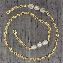 Load image into Gallery viewer, Healing Links™ Rose Quartz Mask Chain exclusively at VintageLuxeUp.com