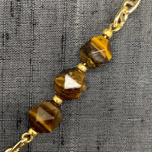 Load image into Gallery viewer, Healing Links Tigers Eye Mask Chain exclusively at VintageLuxeUp.com