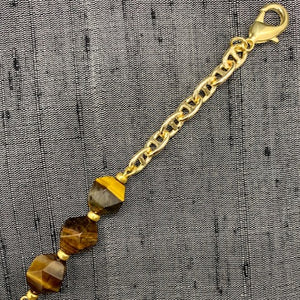 Healing Links Tigers Eye Mask Chain exclusively at VintageLuxeUp.com