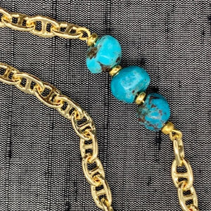 Healing Links™ Turquoise Mask Chain exclusively at VintageLuxeUp.com
