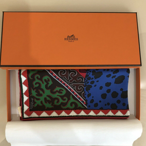 HERMÈS Vintage Appaloosa des Steppes Silk Pocket Square Framed Art
