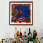 Load image into Gallery viewer, HERMÈS Authentic Vintage Appaloosa des Steppes Silk Pocket Square Framed Art Pocket Square Framed Art exclusively at VintageLuxeUp.com