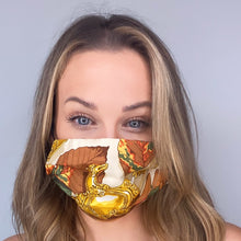 Load image into Gallery viewer, Authentic HERMES Vintage Au Plus Dru Silk Scarf Face Mask exclusively at VintageLuxeUp.com