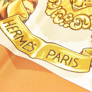 Authentic HERMES Vintage Au Plus Dru Silk Scarf Face Mask exclusively at VintageLuxeUp.com