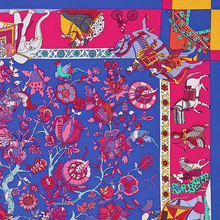 Load image into Gallery viewer, Authentic HERMÈS Vintage Fantasies Indiennes Silk Scarf Face Mask exclusively at VintageLuxeUp.com