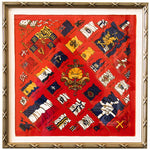 Load image into Gallery viewer, Authentic HERMÈS Vintage Pavois Silk Pocket Square Framed Art exclusively at VintageLuxeUp.com