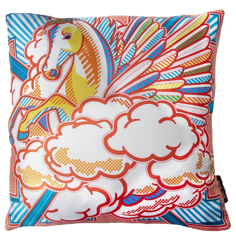 "HERMÈS Pegasus Pop Pillow Cover 17"" exclusively at VintageLuxeUp.com"