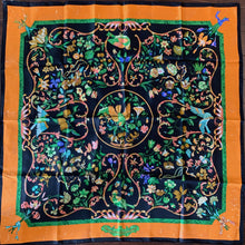 Load image into Gallery viewer, Authentic HERMES Vintage Pierres d'Orient  et d'Occident Silk Scarf Face Mask exclusively at VintageLuxeUp.com