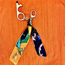Load image into Gallery viewer, Authentic HERMES Vintage Pierres d'Orient  et d'Occident Silk Safe Scarf Charm exclusively at VintageLuxeUp.com