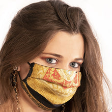Load image into Gallery viewer, Authentic HERMES Vintage Poste et Cavalerie Silk Scarf Face Mask exclusively at VintageLuxeUp.com