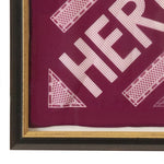 Load image into Gallery viewer, Authentic Vintage HERMÈS Vintage Sellier Magenta Cotton Pocket Square Framed Art exclusively at VintageLuxeUp.com