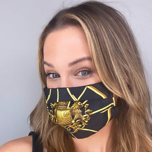 Authentic HERMES Vintage Springs Silk Scarf Face Mask Exclusively at VintageLuxeUp.com