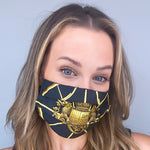 Load image into Gallery viewer, Authentic HERMES Vintage Springs Silk Scarf Face Mask Exclusively at VintageLuxeUp.com