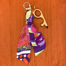 Load image into Gallery viewer, Authentic Vintage HERMES Les Trophees Silk Safe Scarf Charm exclusively at VintageLuxeUp.com