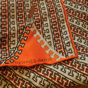 "Authentic HERMÈS Vintage H Logo with Zipper Pillow Cover 17"" exclusively at VintageLuxeUp.com"