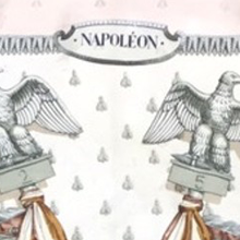 Load image into Gallery viewer, HERMÈS Vintage Napoleon Neutrals Silk Scarf Face Mask