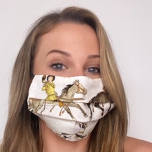 Load image into Gallery viewer, Authentic HERMES Vintage l'Hiver Silk Scarf Face Mask exclusively at VintageLuxeUp.com