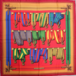 Load image into Gallery viewer, Authentic HERMES Vintage Sangles Silk Scarf Face Mask exclusively at VintageLuxeUp.com