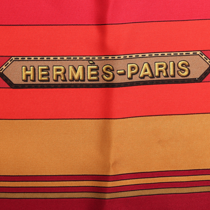 Authentic HERMES Vintage Sangles Silk Scarf Face Mask exclusively at VintageLuxeUp.com
