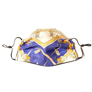 LVMH Hennessy Cognac Vintage Silk Scarf Face Mask exclusively at VintageLuxeUp.com