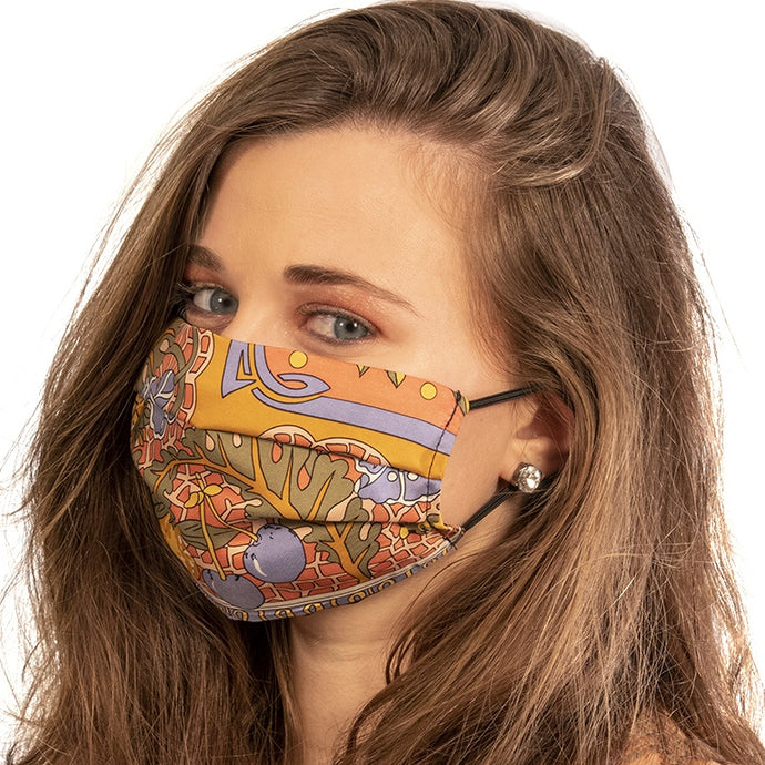 LVMH Grand Marnier Floral Silk Scarf Face Mask exclusively at VintageLuxeUp.com