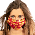 Load image into Gallery viewer, LVMH Grand Marnier Vintage Cerise Scarf Face Mask exclusively at VintageLuxeUp.com