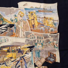 Load image into Gallery viewer, Authentic LORO PIANA Vintage Voyages Silk Scarf Face Mask exclusively at VintageLuxeUp.com