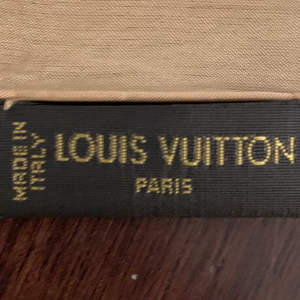 Authentic LOUIS VUITTON Monogram Silk Scarf Face Mask exclusively at VintageLuxeUp.com
