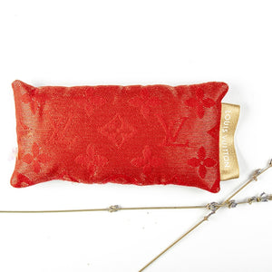 LOUIS VUITTON Red Logo Lavender Eye Pillow exclusively at VintageLuxeUp.com