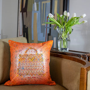 "Authentic HERMÈS Vintage Magic Kelly Capucine Pillow Cover 17"" exclusively at VintageLuxeUp.com"