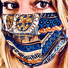 Load image into Gallery viewer, MISSONI Vintage Abstract Tribal Silk Scarf Mask