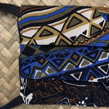 Load image into Gallery viewer, Authentic MISSONI Vintage Abstract Tribal Upcycled Silk Scarf PPE Protective Face Mask exclusively at www.VintageLuxeUp.com