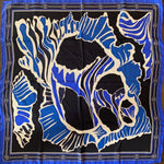 Load image into Gallery viewer, Authentic EMILIO PUCCI Vintage Abstract Blues Scarf Face Mask exclusively at VintageLuxeUp.com