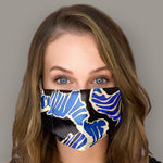 Load image into Gallery viewer, EMILIO PUCCI Vintage Abstract Blues Scarf Face Mask