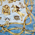 Load image into Gallery viewer, Authentic RALPH LAUREN Vintage Silk Scarf Face Mask exclusively at VintageLuxeUp.com