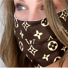 Load image into Gallery viewer, LOUIS VUITTON Vintage Silk Monogram Scarf Face Mask