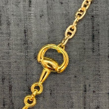 Load image into Gallery viewer, Horse Bit Mask Chain Gold Oval Link exclusively at VintageLuxeUp.com
